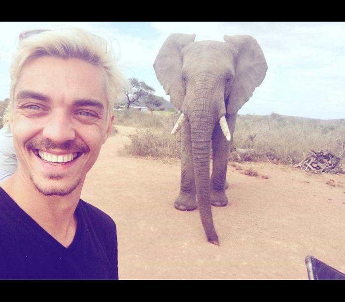 José Mata desfruta de uns dias de descanso em África