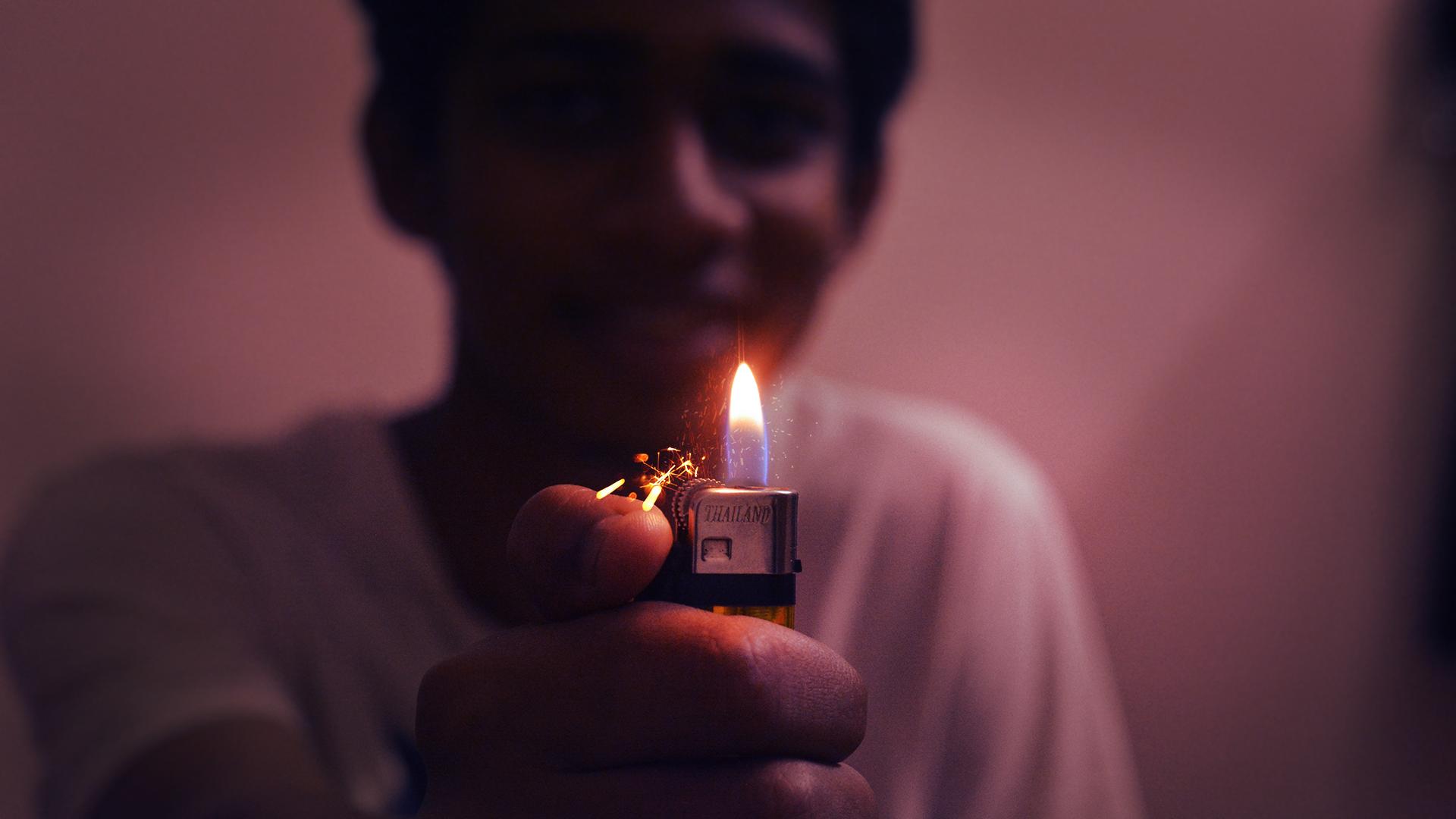 O truque sobre fumagem deixada