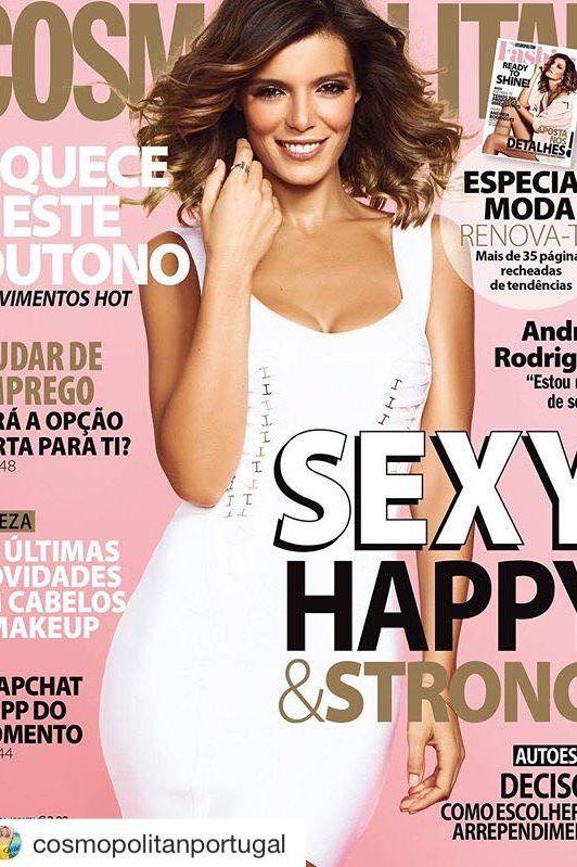 Andreia Rodrigues 'brilha' na capa da Cosmopolitan