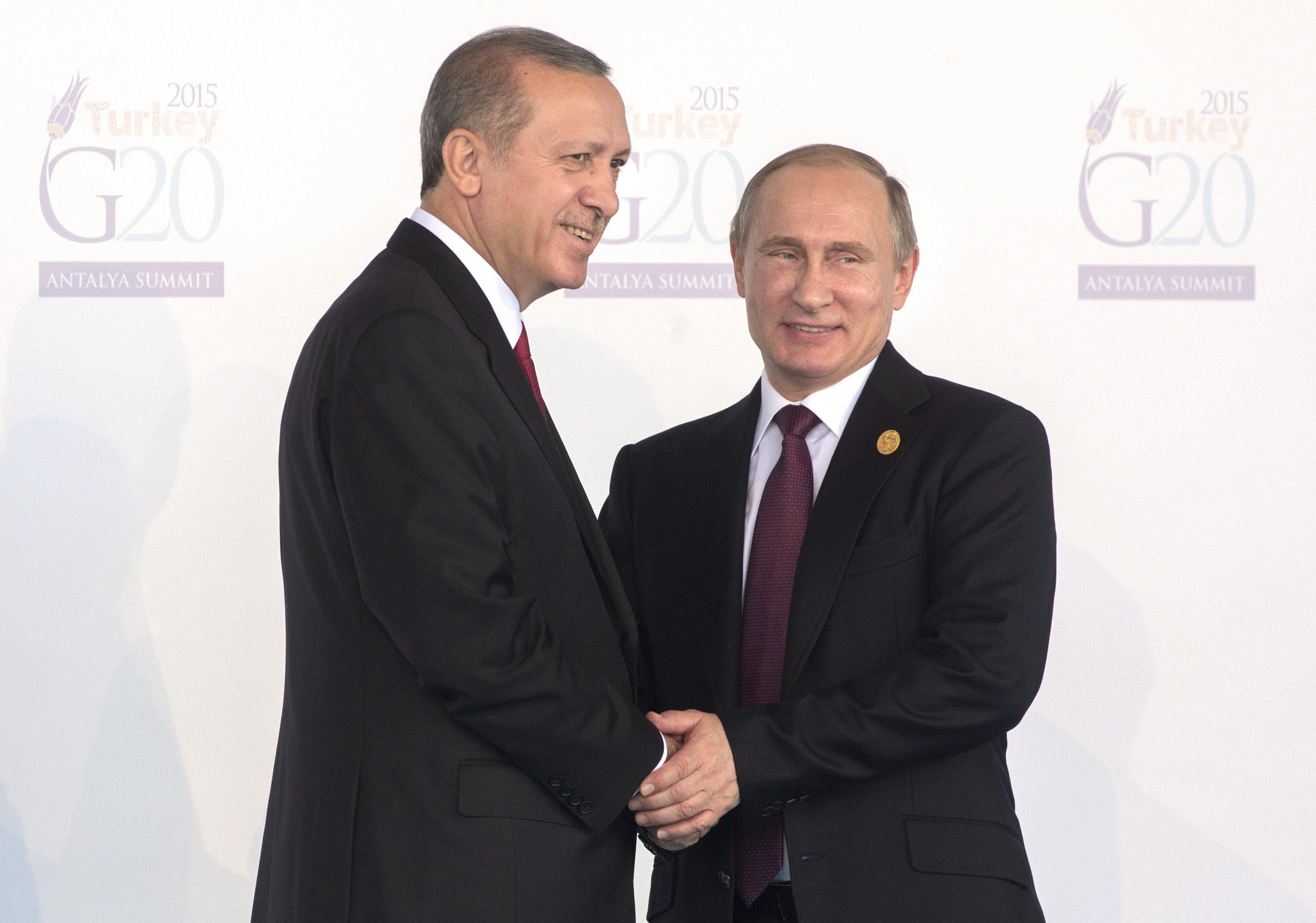Encontro Putin-Erdogan anunciado para 09 de agosto em São Petersburgo
