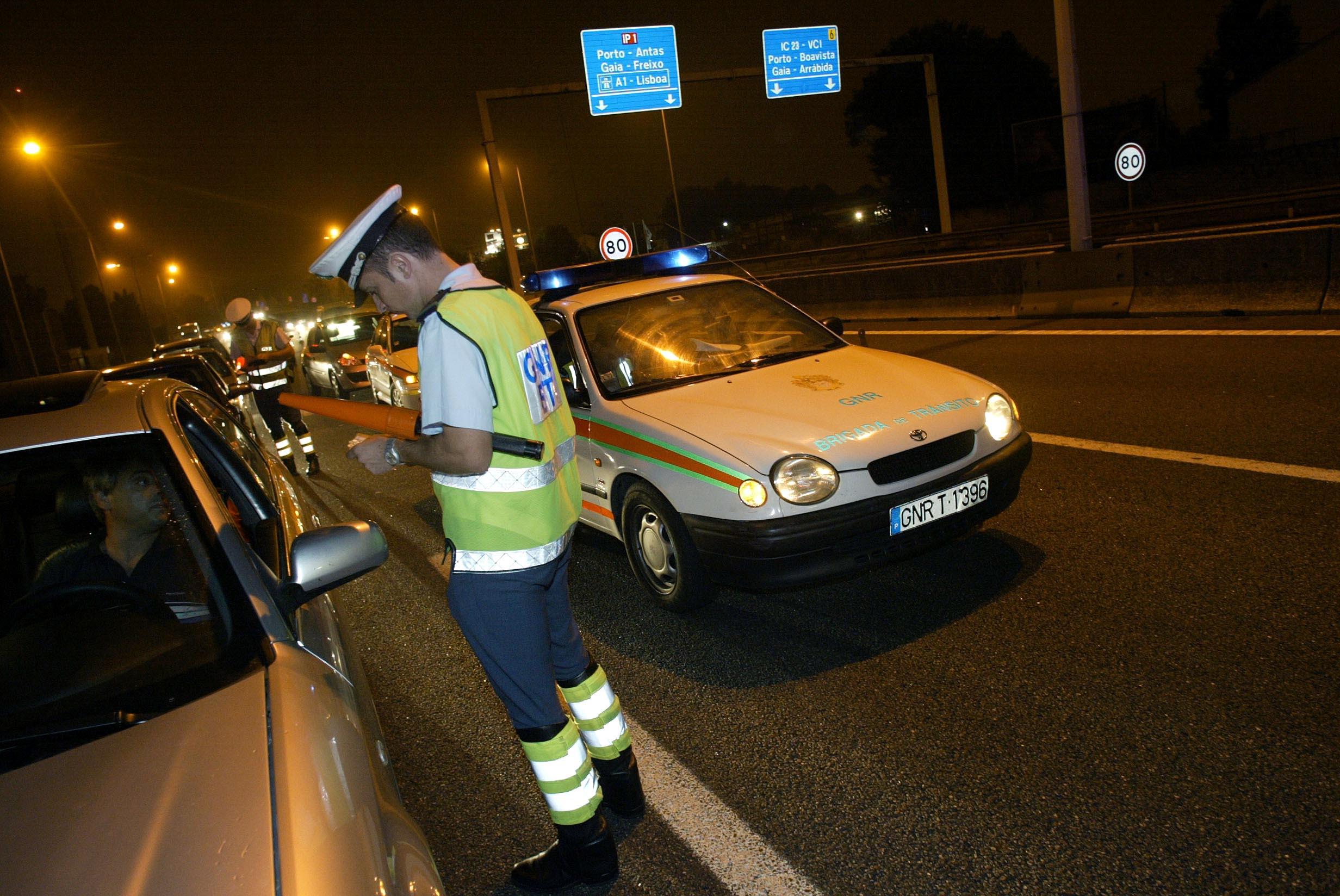 GNR deteve 42 pessoas na última madrugada, a maioria sob efeito de álcool