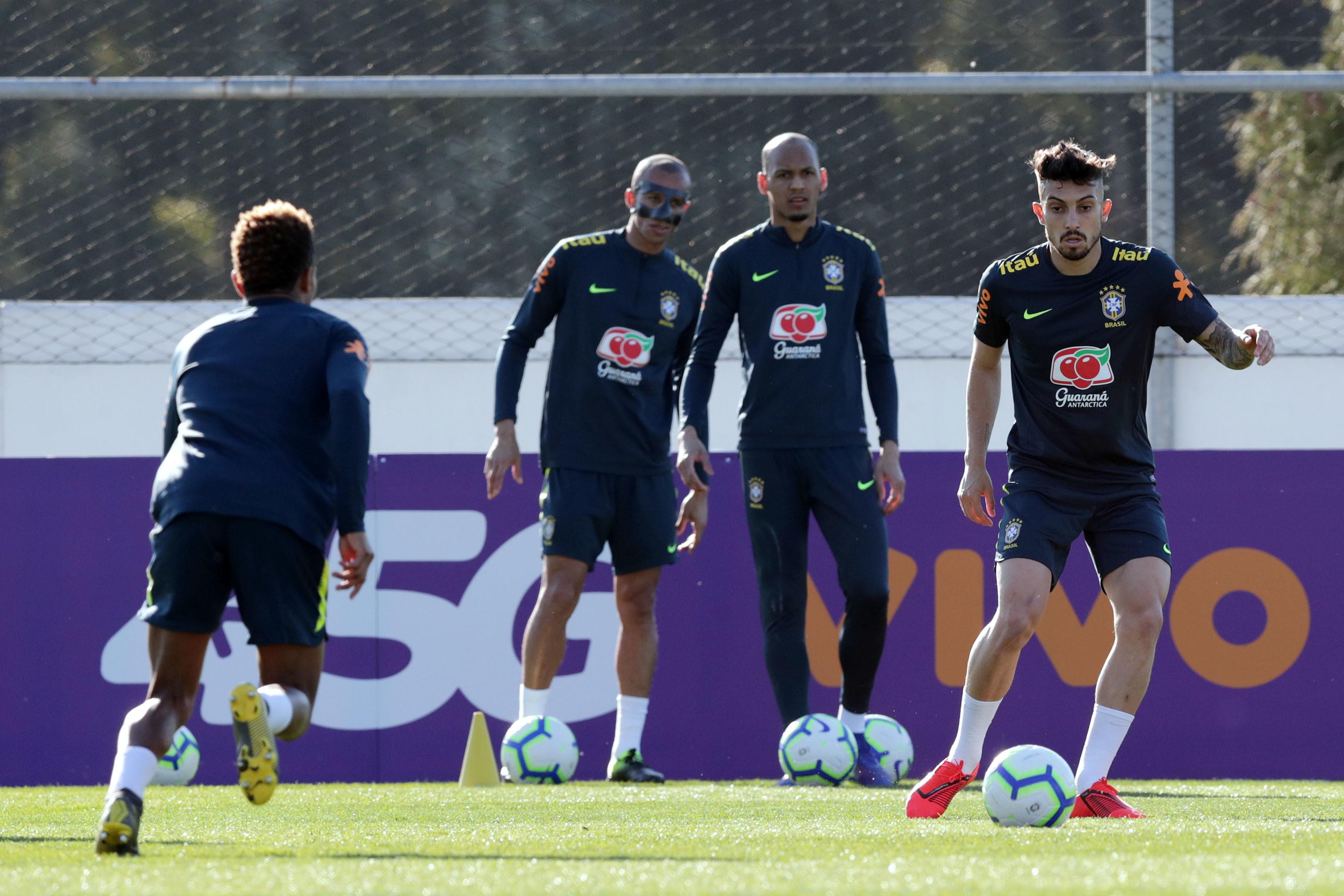 Último treino do Brasil contou com Alex Telles e Éder Militão em pleno