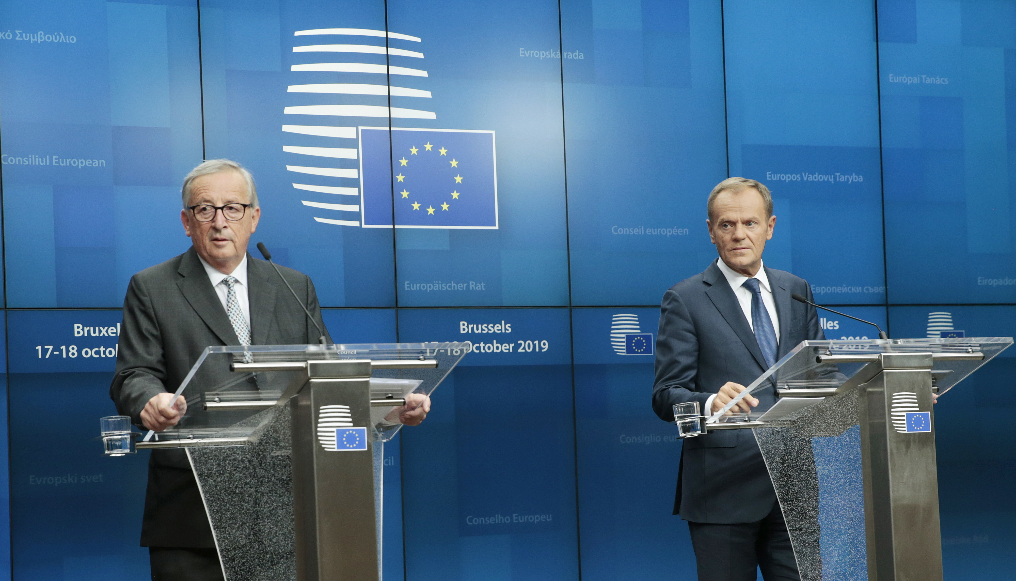 UE nunca será culpada de uma saída sem acordo, coincidem Tusk e Juncker