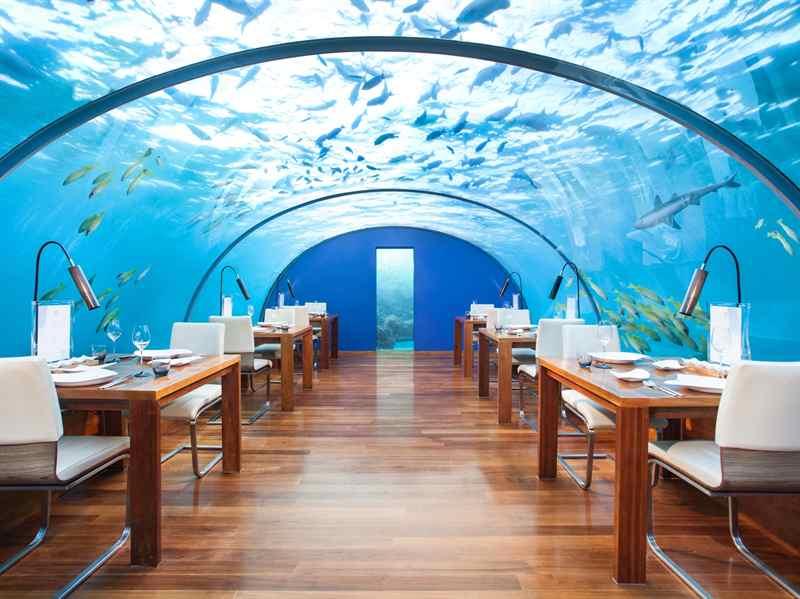 Os sete melhores restaurantes subaquáticos do mundo