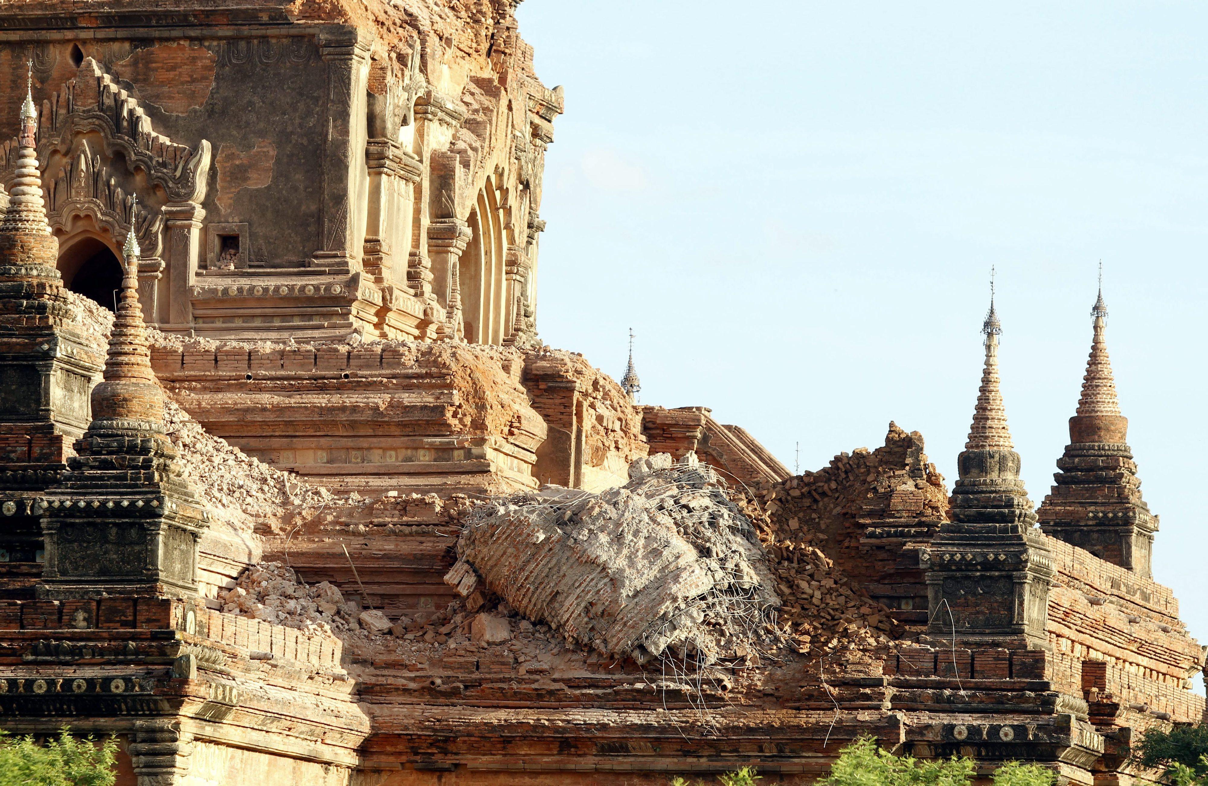 Terramoto na Birmânia fez quatro mortos e danificou 185 templos de Bagan