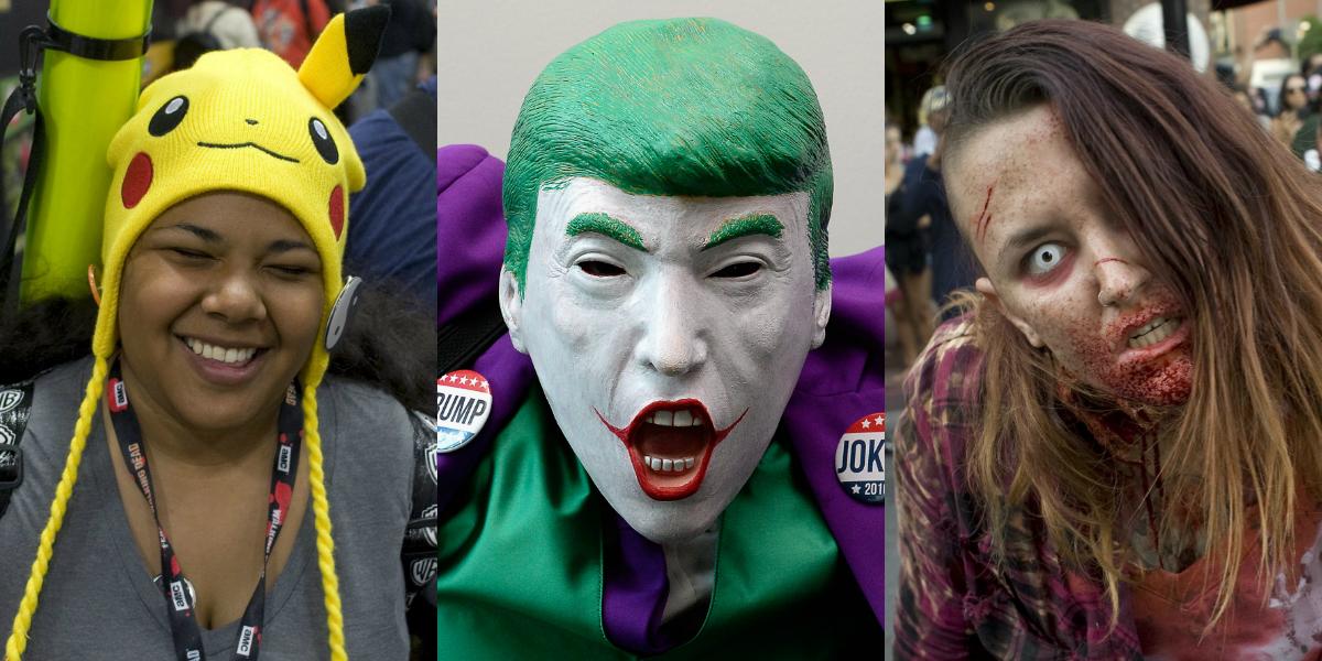 De 'Joker Trump' a Pikachu: As máscaras mais inacreditáveis da Comic-Con