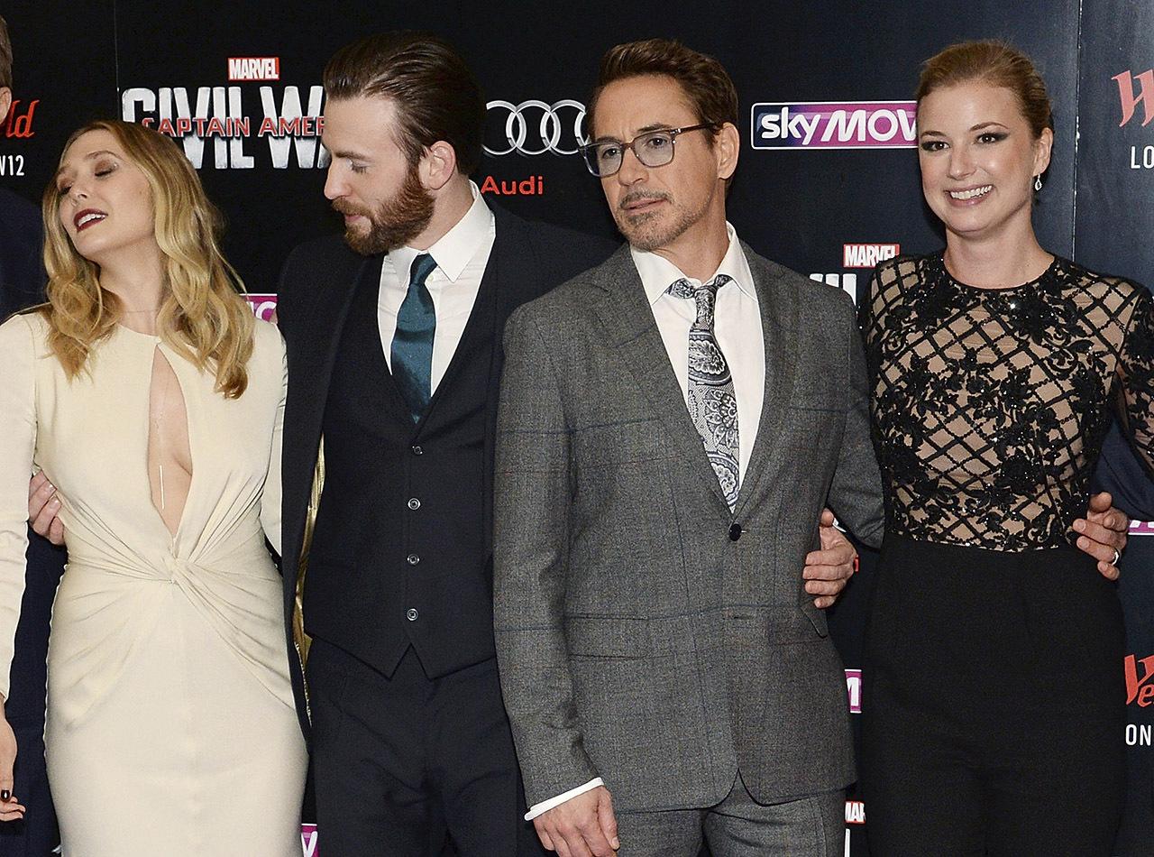 """Imagem de """"Capitão América"""" apanhado a espreitar decote de Elizabeth Olsen torna-se viral"""