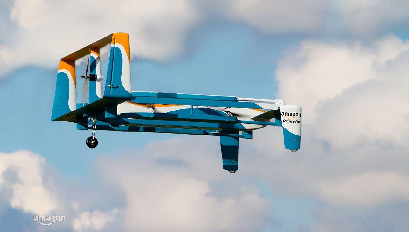 Drones de entregas da Amazon vão ser testados no Reino Unido