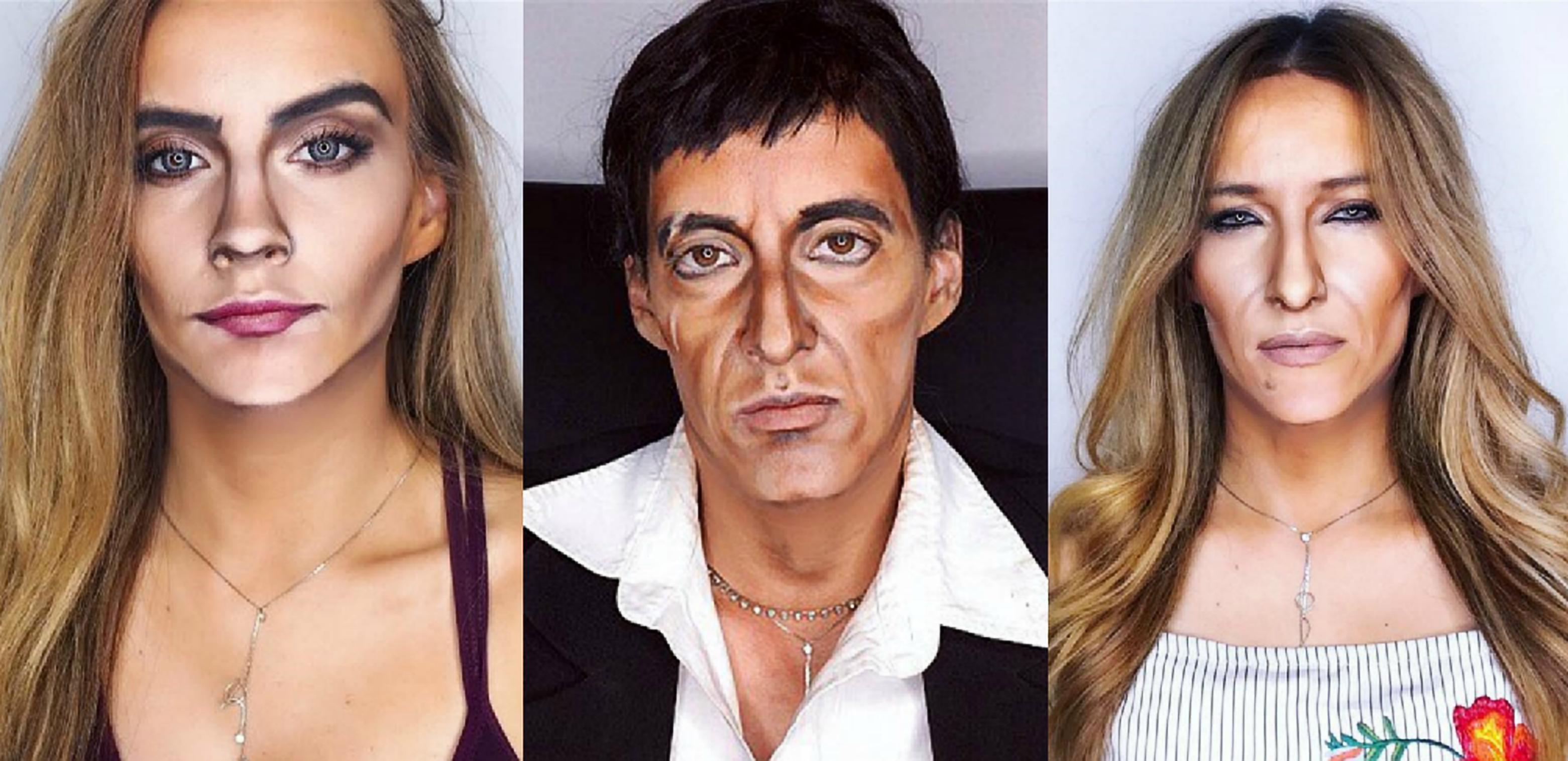 Maquilhadora reproduz a cara dos famosos usando apenas os seus pincéis