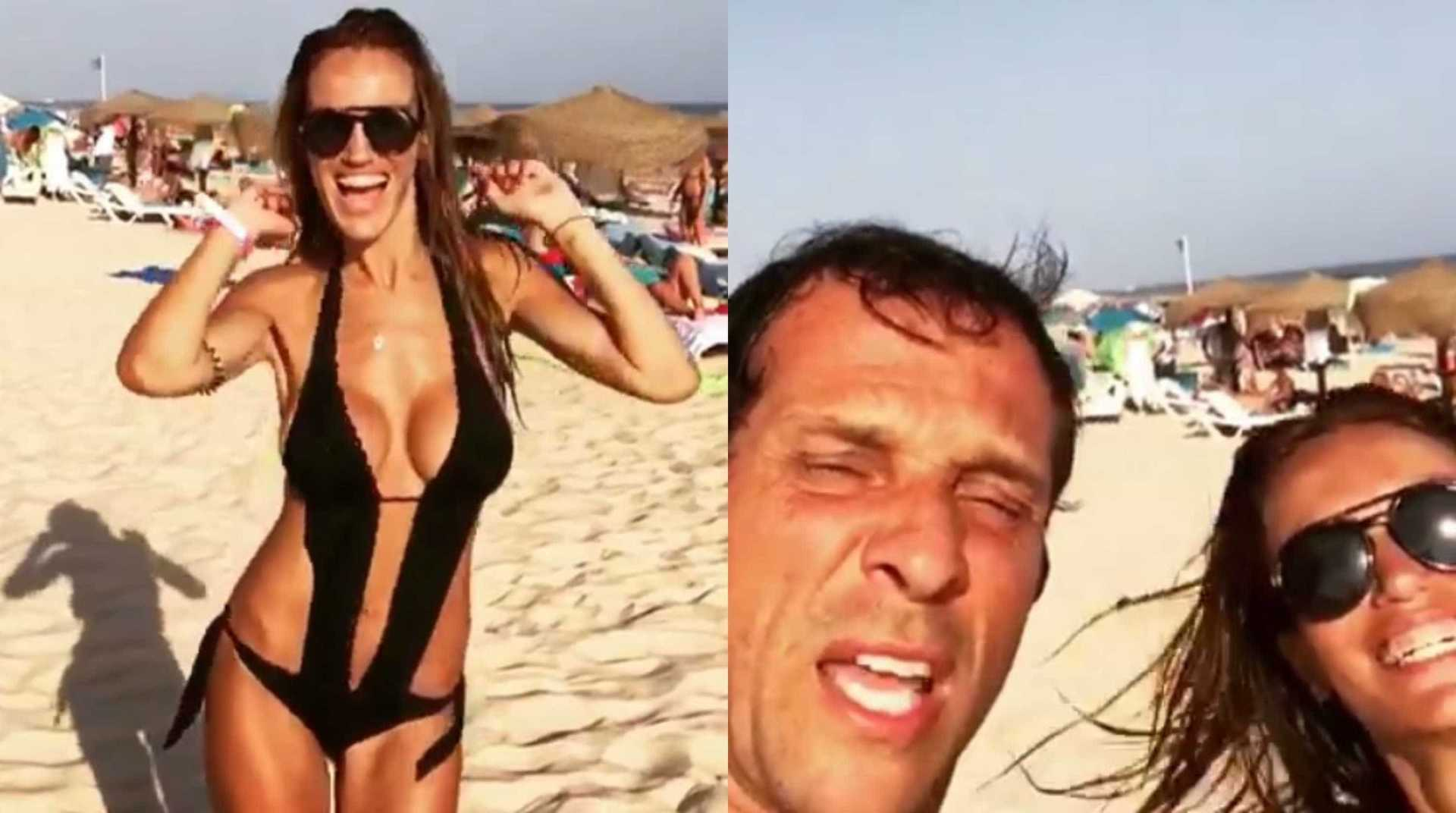 Vídeo: Liliana Aguiar exibe corpo invejável (e Zeca 'aprova')