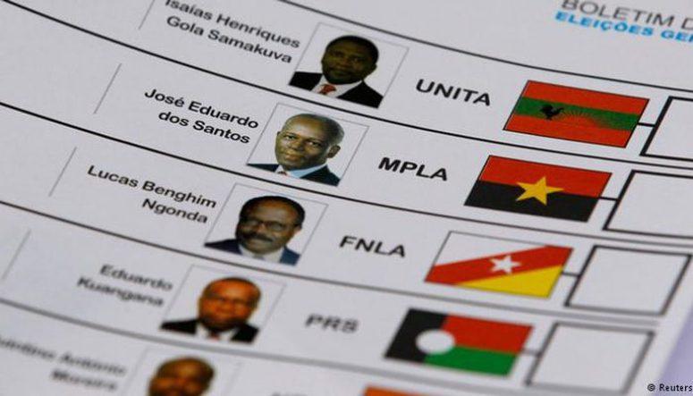 candidaturas dos partidos às eleições