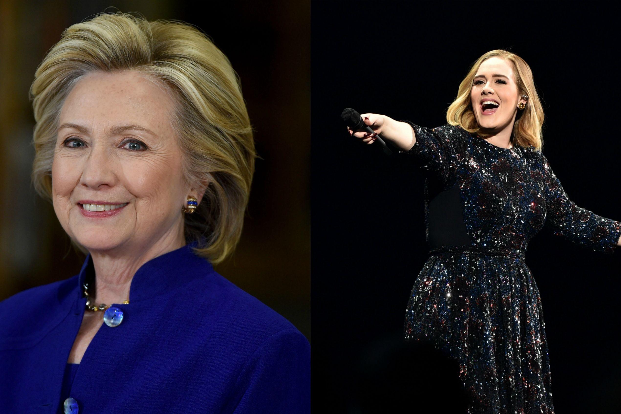 """Hillary Clinton """"grata"""" por presente de aniversário de Adele"""
