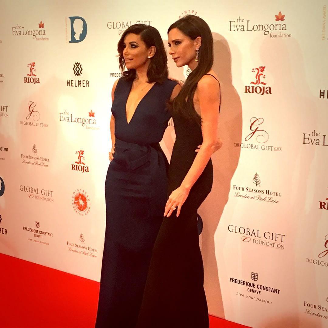 As 'BFF' Victoria Beckham e Eva Longoria preparadas para o Halloween