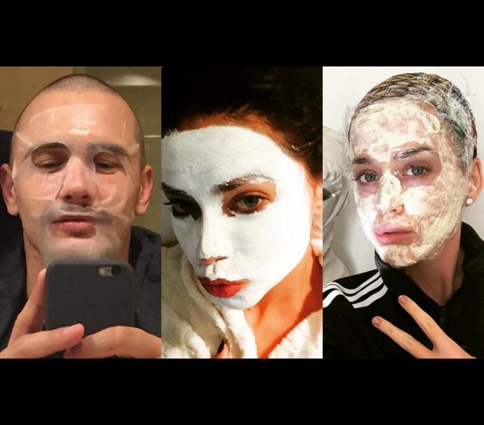 Quem são as celebridades por trás destas máscaras faciais?