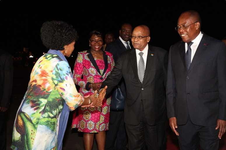 Jacob Zuma em Luanda