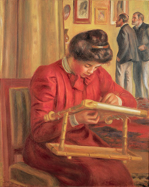 Christine Lerolle a bordar, de Auguste Renoir
