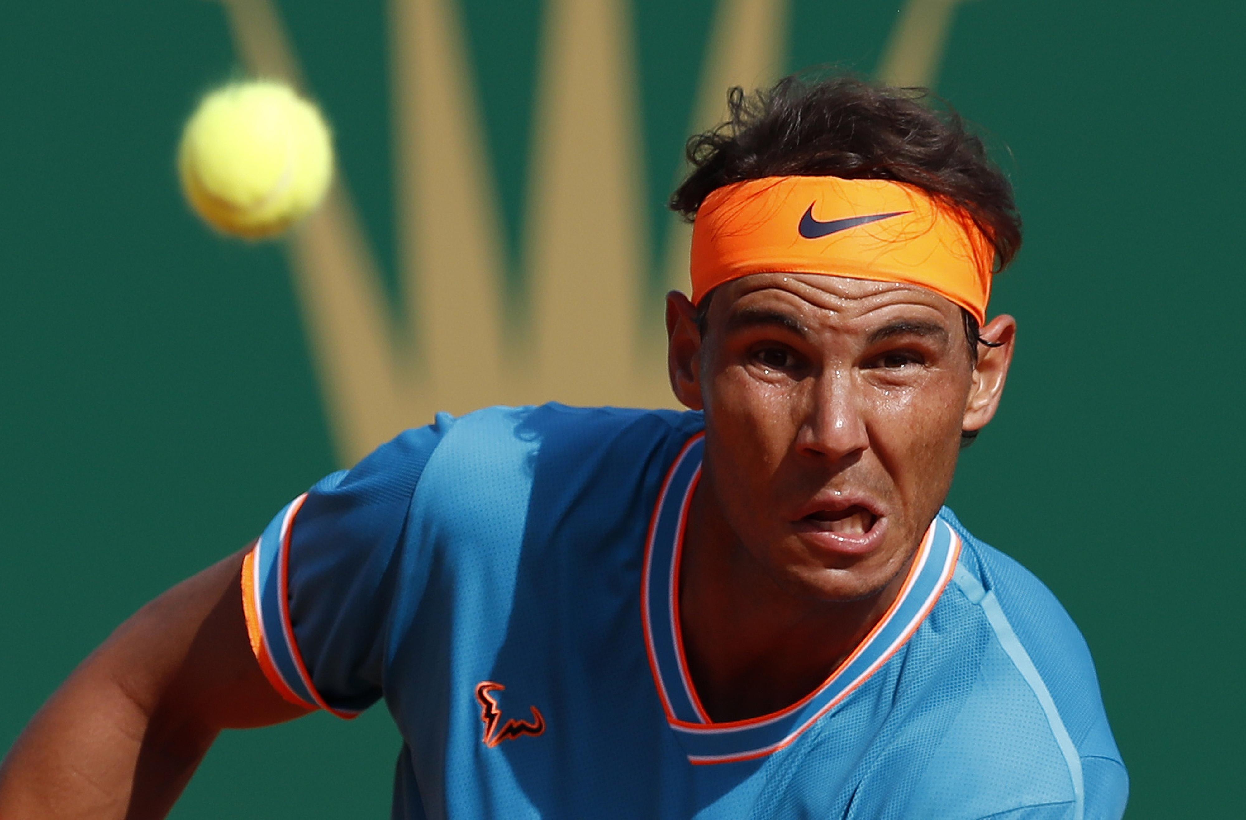 Tenista espanhol Nadal nas meias-finais de Monte Carlo, ao superar Pella