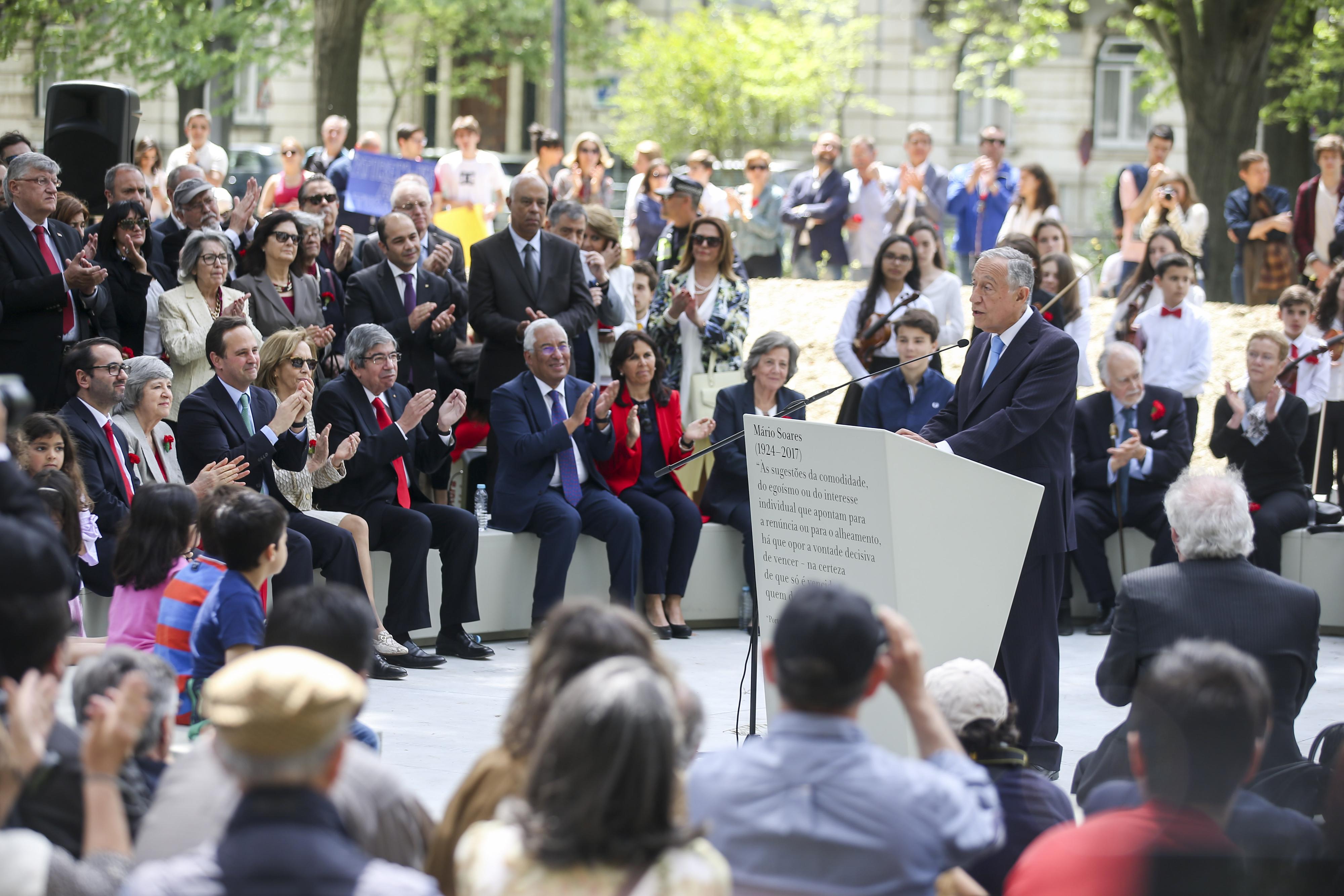 Presidente da República agradece a Mário Soares a liberdade de que todos gozam