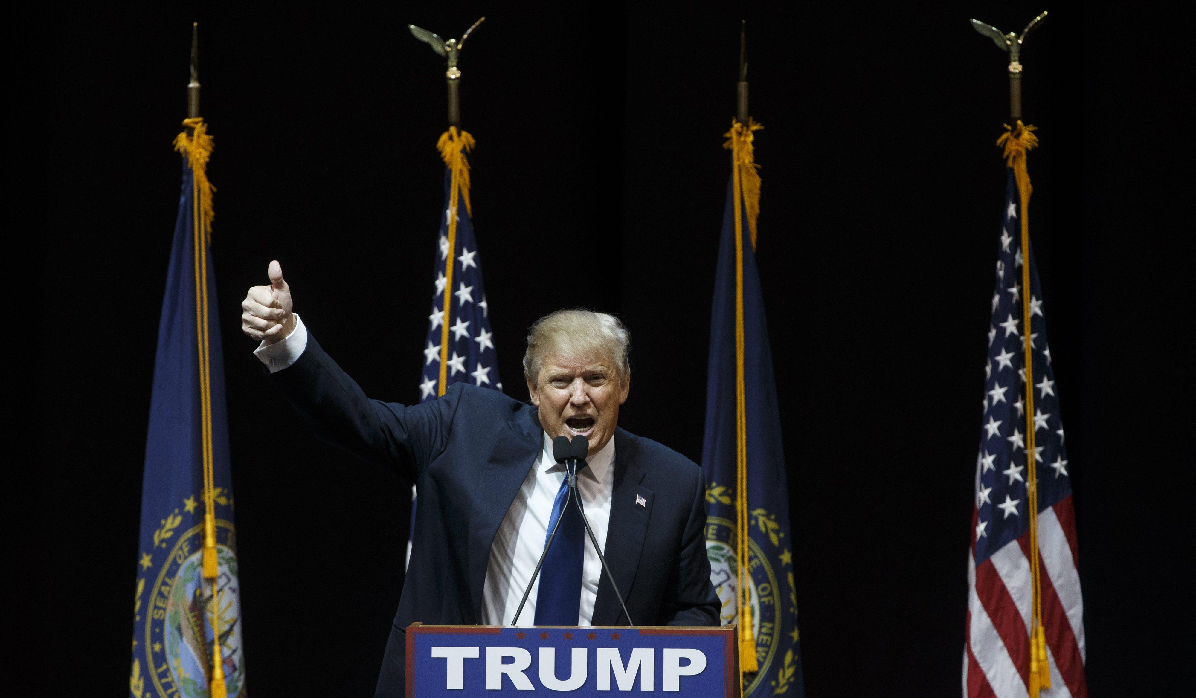 Donald Trump ganhou primárias republicanas em New Hampshire