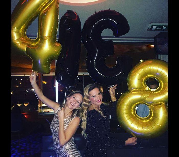 Oceana Basílio e Paula Lobo Antunes comemoram aniversário juntas