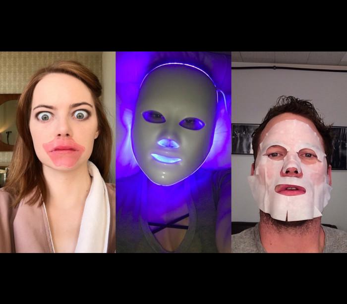 Os famosos e as máscaras bizarras de tratamento de beleza