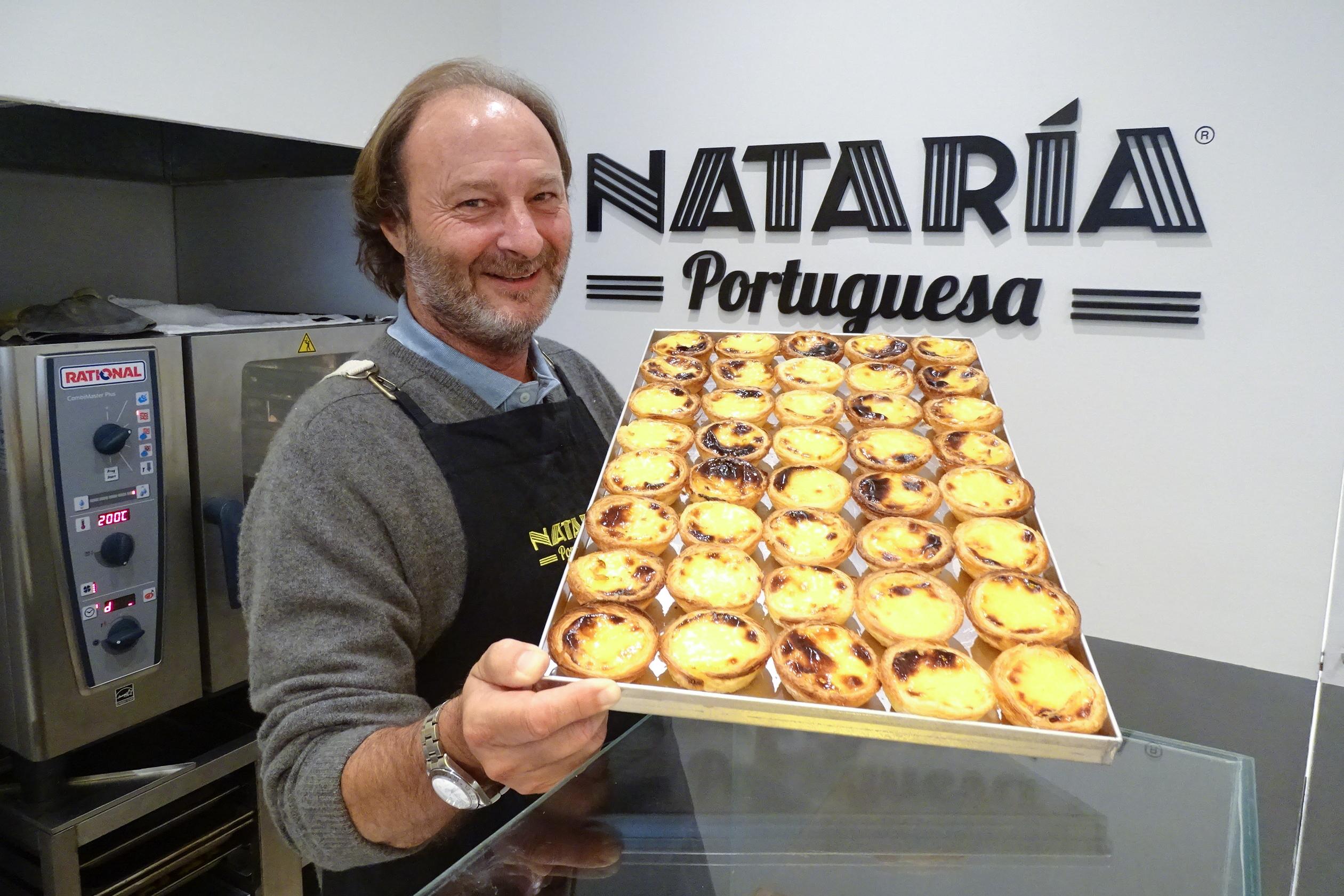 Nataria Portuguesa faz sucesso com o primeiro pastel de nata da Argentina