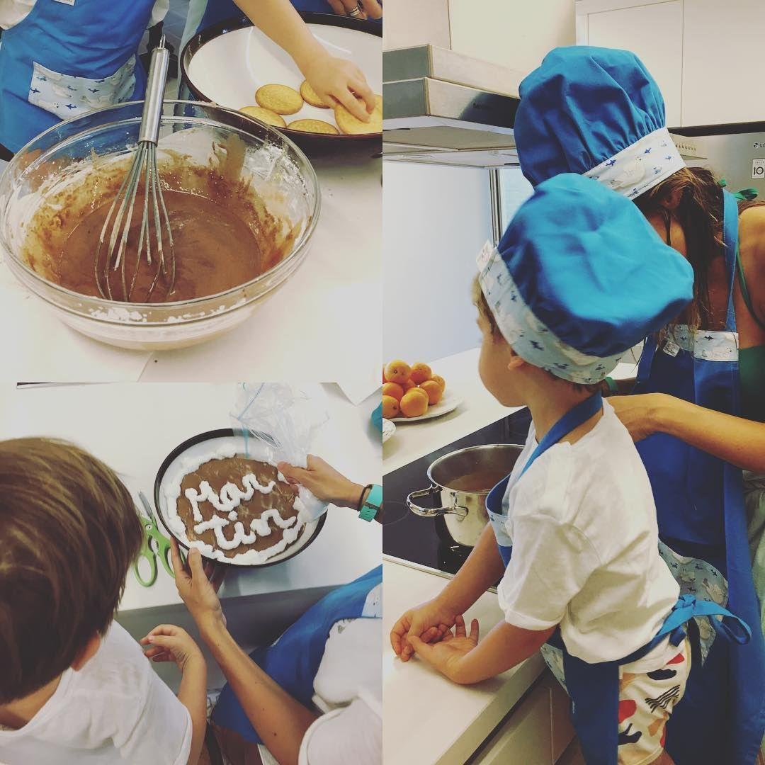 Filho de Sara Carbonero mostra dotes na pastelaria