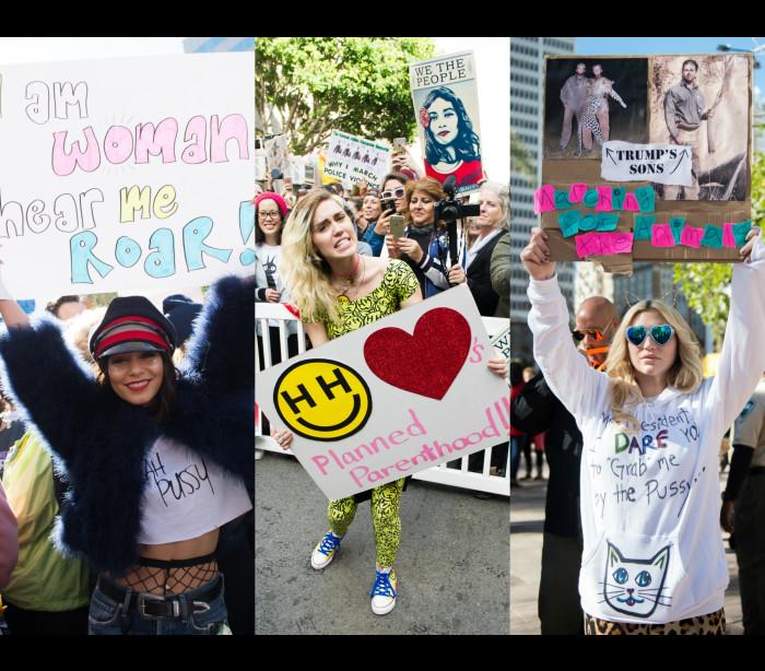 Os famosos presentes na 'Marcha pelas Mulheres'
