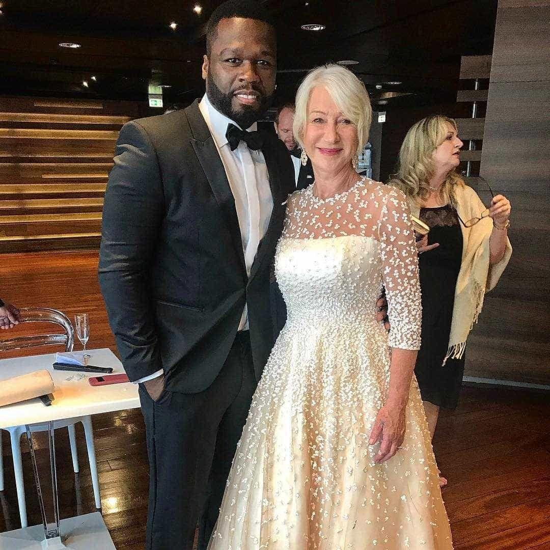 Rapper 50 Cent confessa 'fraquinho' por Helen Mirren