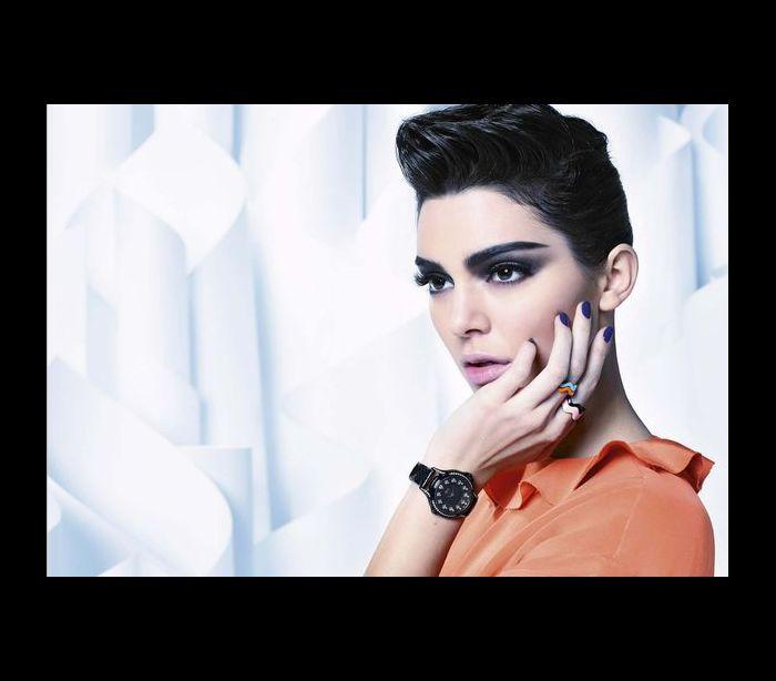 Kendall Jenner irreconhecível em produção para a Channel