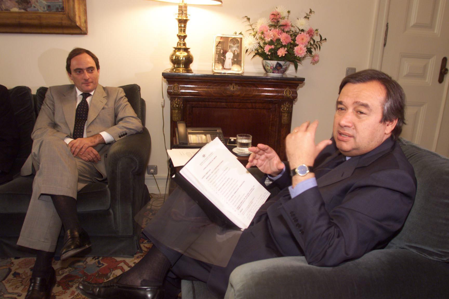 António Guterres e Paulo Portas