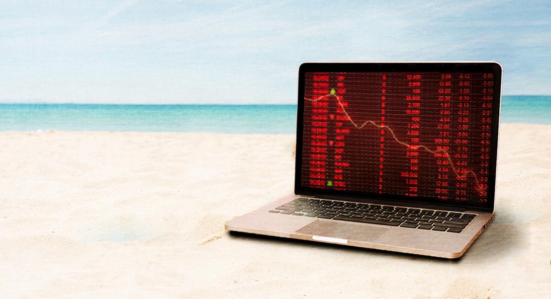 Investidores vão de férias, mas negócios na bolsa não param. E nem sempre correm bem