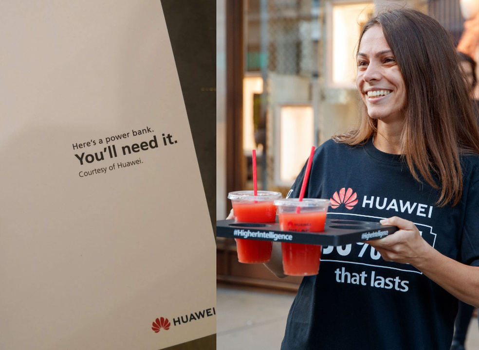 Huawei ofereceu power banks a quem esperava na fila do novo iPhone