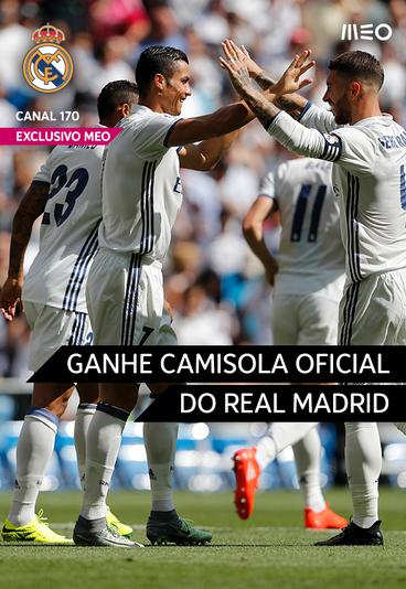 Ganhe uma camisola oficial do Real Madrid com o nome de Ronaldo
