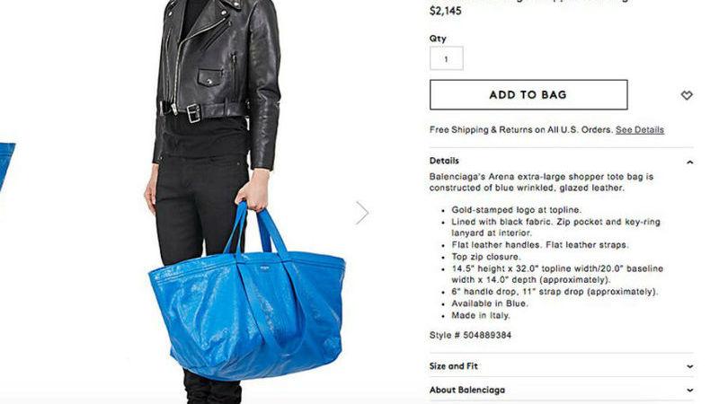 """""""Abane o saco. Se fizer barulho é o original."""" A resposta criativa do Ikea à mala da Balenciaga"""
