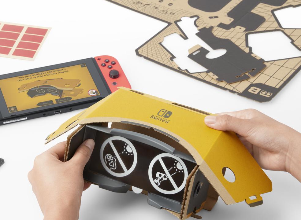 """Nintendo revela as """"1001 interações"""" de realidade virtual permitidas pelos Kits VR do Nintendo Labo"""