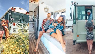 Este casal norte-americano abandonou o emprego para transformar um autocarro numa casa e viajar pelo mundo
