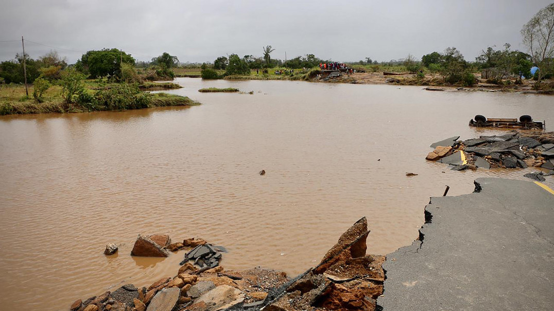 Continuam a  chegar imasgens de destruição em Moçambique