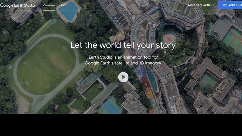Google Earth Studio é uma ferramenta web para criar animações geográficas e vídeos