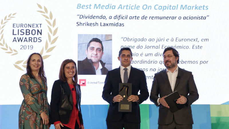 Euronext premeia diretor-adjunto do Jornal Económico com 'Best Media Article on Capital Markets'
