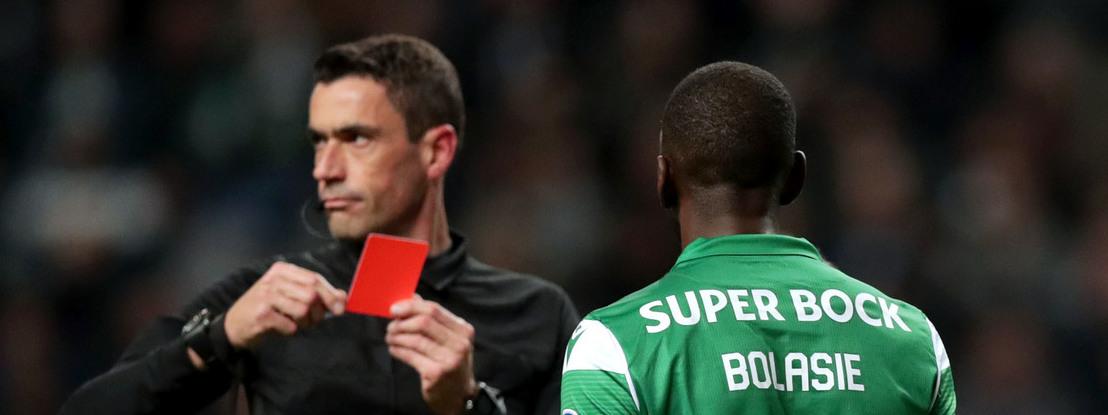 Sporting já soma nove cartões vermelhos esta época