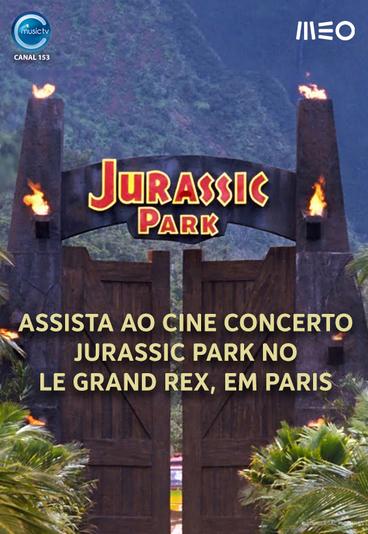 Ganhe convite duplo para assistir ao cine concerto Jurassic Park, em Paris