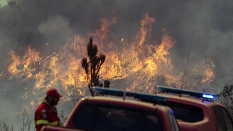 Controlado incêndio de grandes dimensões em Águeda