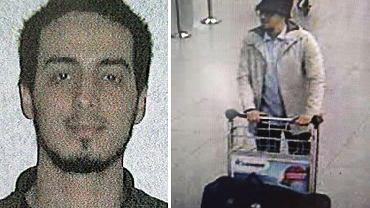 Najim Laachraoui, terceiro suspeito dos atentados no aeroporto de Bruxelas (22/03/2016). Foto: Pol