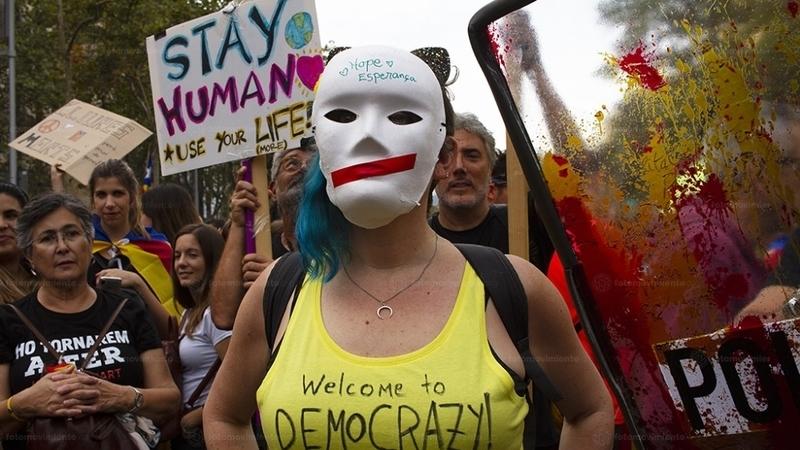 A app descentralizada no centro das manifestações na Catalunha