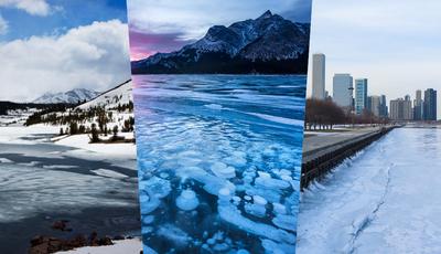 10 lagos congelados para um inverno mágico