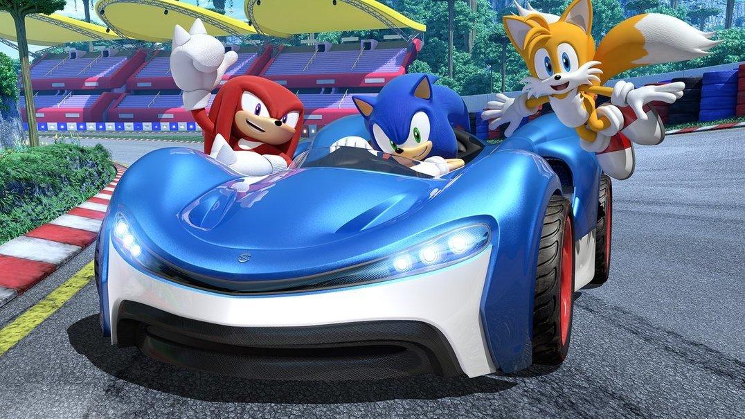 Sonic acelera a fundo em novo jogo de corridas de automóveis