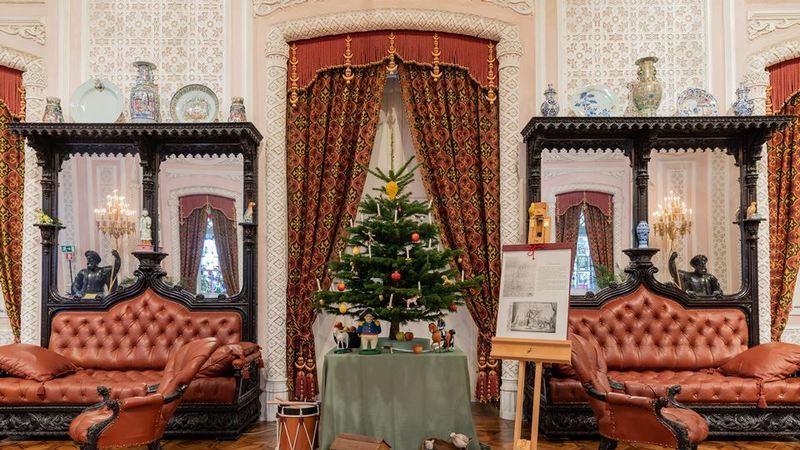 Palácio Nacional da Pena expõe reconstituição inédita da Árvore de Natal de D. Fernando II