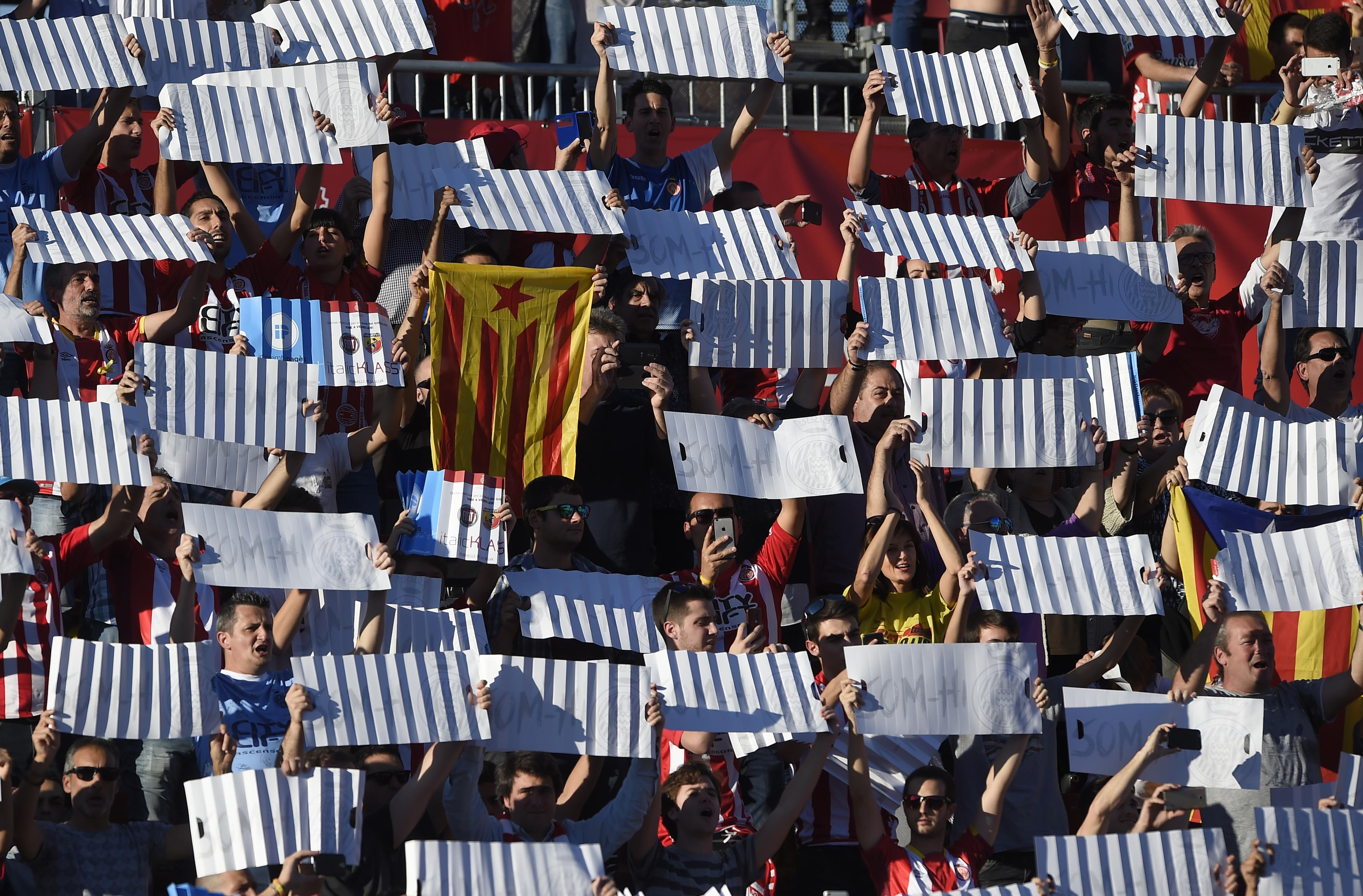 Manifestação pró independência da Catalunha no arranque dos Jogos Mediterraneos