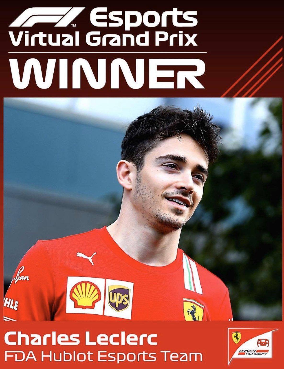 Fórmula 1: Nas corridas virtuais manda Leclerc